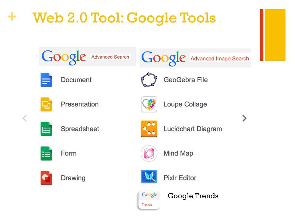 + Web 2.0 Tool: Google Tools Google Trends