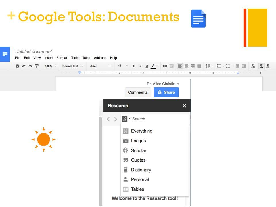 + Google Tools: Documents