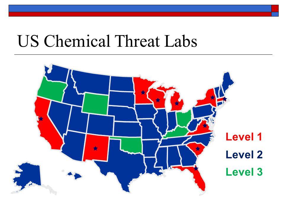 US Chemical Threat Labs           Level 1 Level 3 Level 2