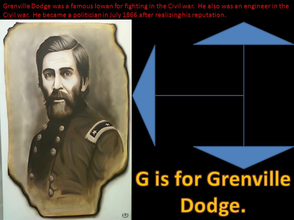 Grenville Dodge was a famous Iowan for fighting in the Civil war.