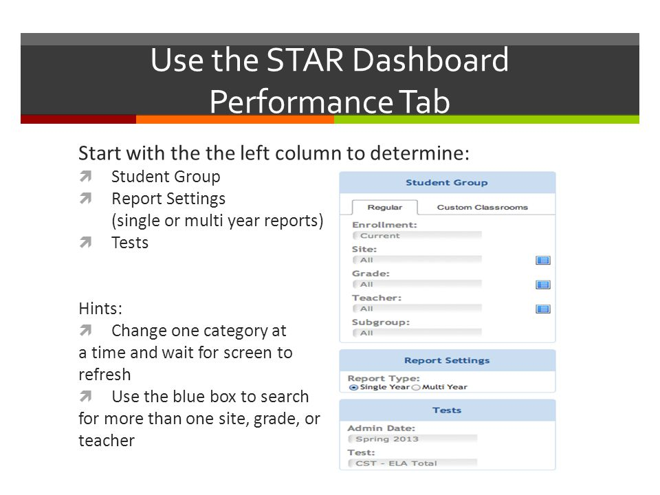 Make Custom Classrooms  Create custom classrooms based on performance levels  Go back to the left column to find custom classrooms