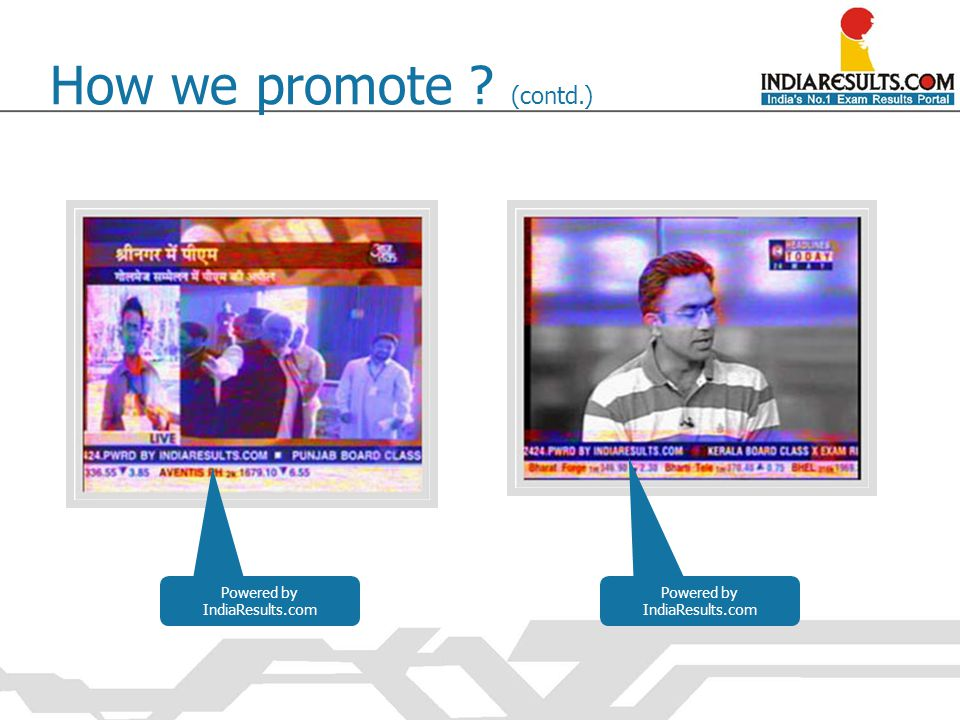 Powered by IndiaResults.com How we promote ? (contd.)