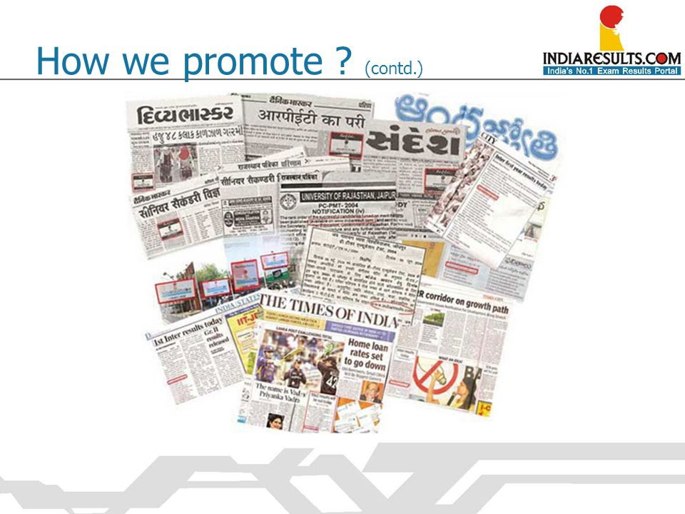 How we promote ? (contd.)