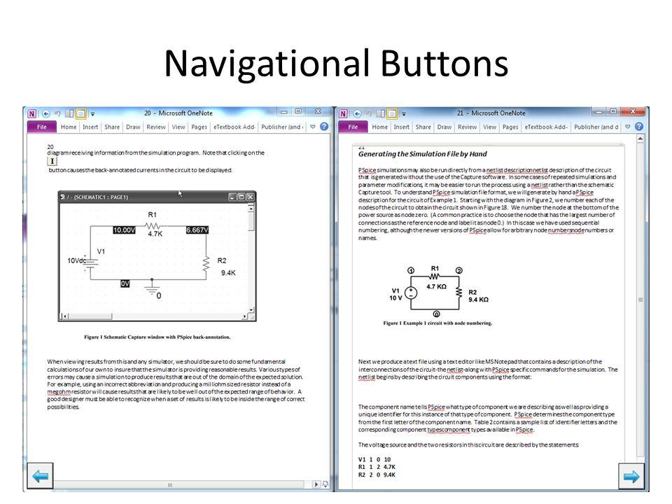 Navigational Buttons