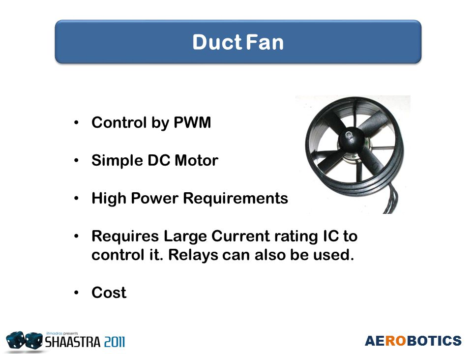 Control by PWM Simple DC Motor High Power Requirements Requires Large Current rating IC to control it.