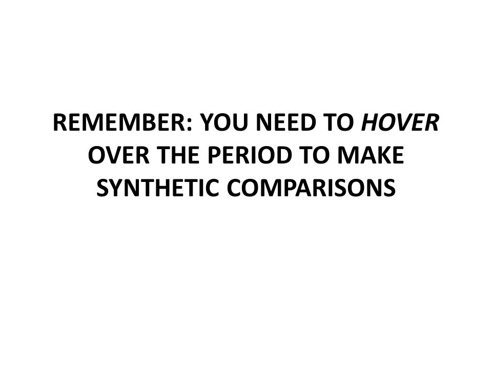 REMEMBER: YOU NEED TO HOVER OVER THE PERIOD TO MAKE SYNTHETIC COMPARISONS