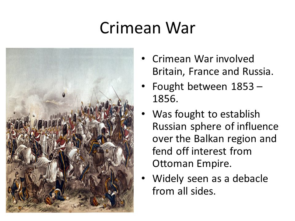 Causes of Crimean War Long Term Russia always seen as policeman of Europe – stopped uprisings and rebellions.