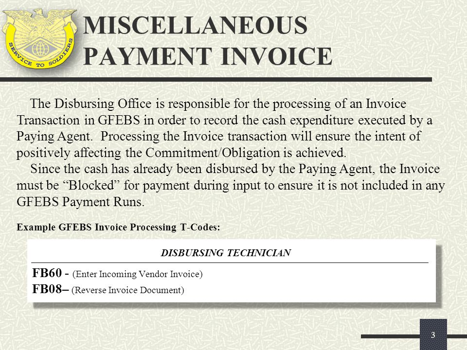 FB03 1 1 Enter the desired Document Number (GFEBS Invoice document number) 2013 2 2 Enter the Fiscal Year applicable to the Document Number 3 3 Press Enter FB03- VIEWING A FILE ATTACHMENT 14