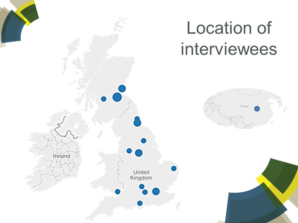 Location of interviewees
