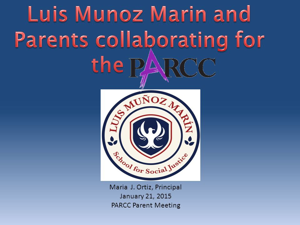 Table of Contents: What is PARCC.