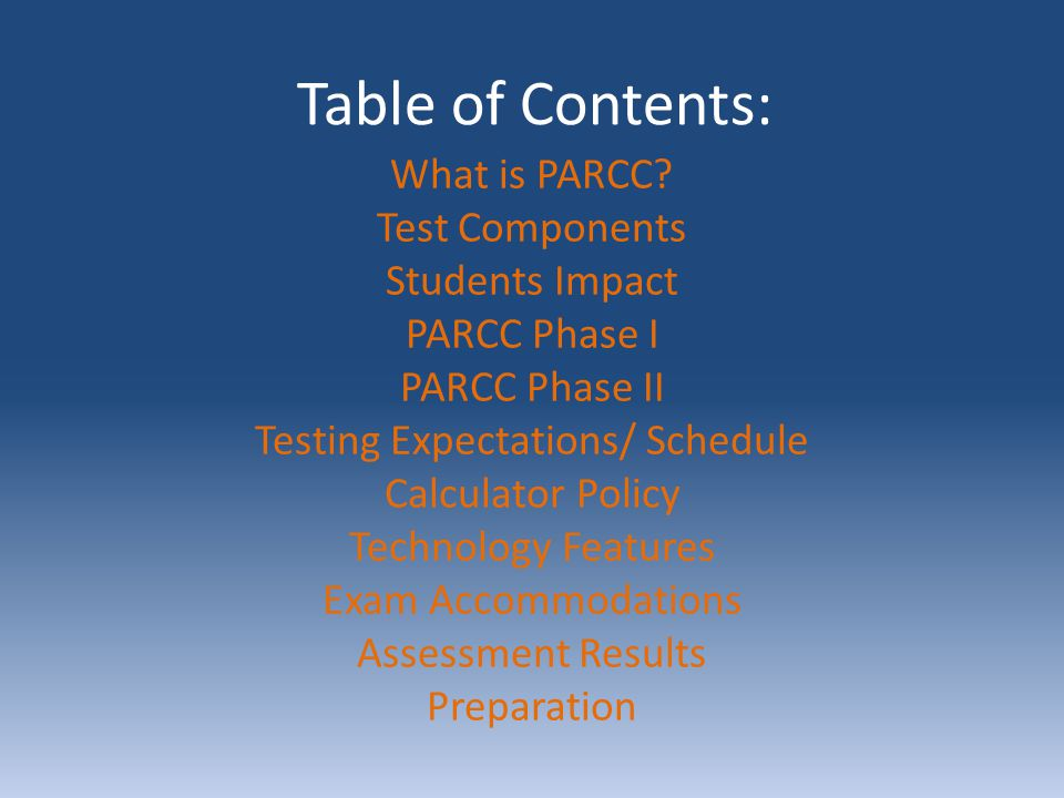 What is PARCC? Partnership for Assessment of Readiness for College & Careers