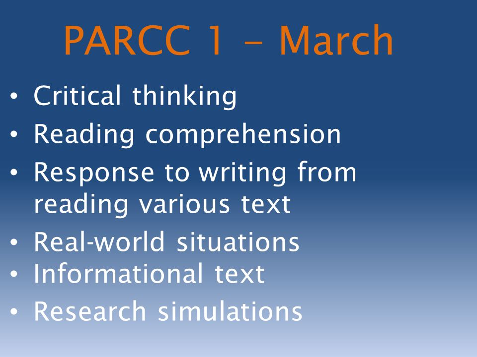 What can you do to prepare your child for PARCC.