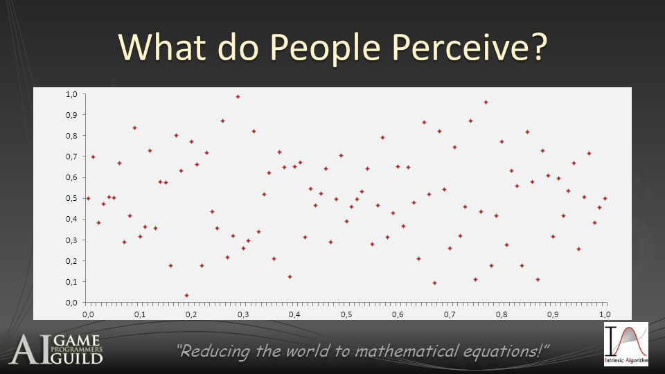 Reducing the world to mathematical equations! What do People Perceive