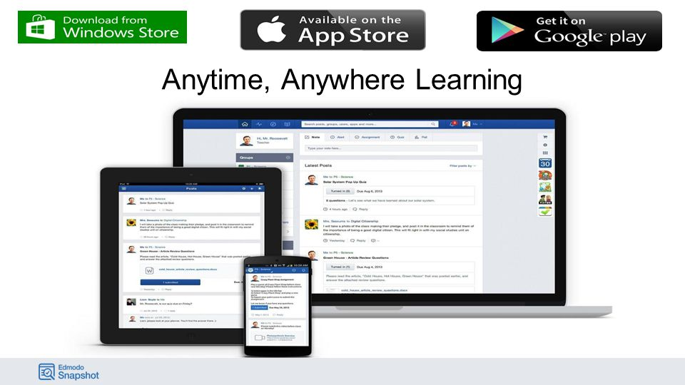 44,000,000+ TOTAL USERS AROUND THE WORLD Edmodo is the largest social learning network in the world