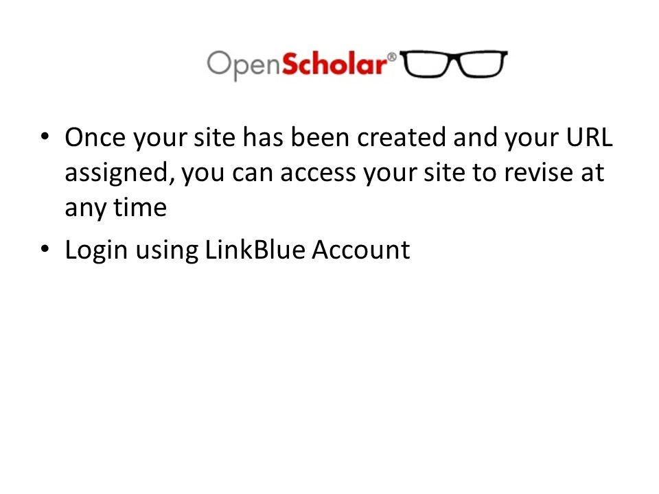 Select your website by clicking here or your name