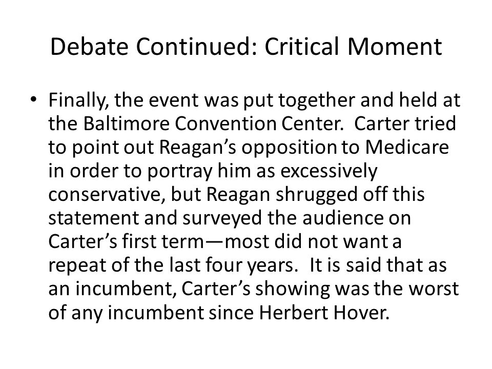 Debate Continued: Critical Moment Finally, the event was put together and held at the Baltimore Convention Center.