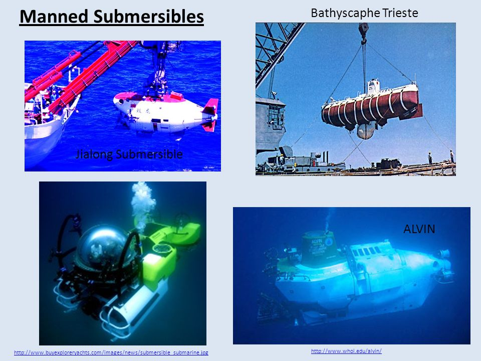 Unmanned Submersibles: ROVs and AUVs Because the depths of the ocean are very dark and extremely cold (around 1°C), scientists use unmanned robotic craft to explore them.