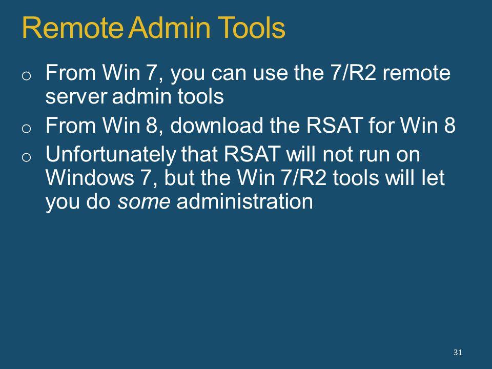 Remote Admin Tools 31