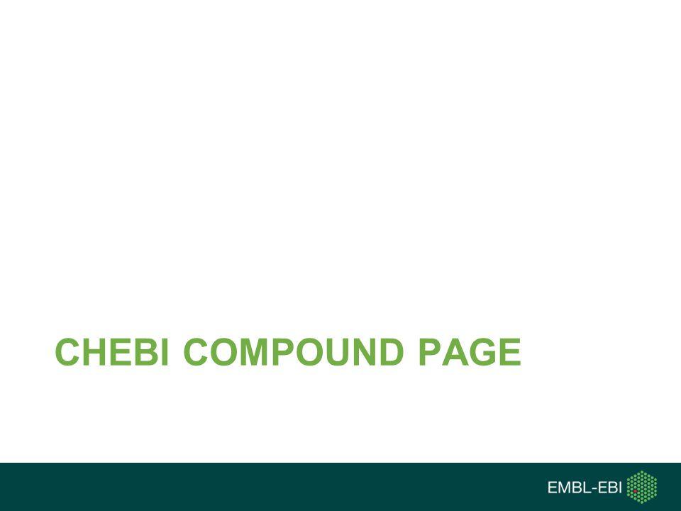 CHEBI COMPOUND PAGE