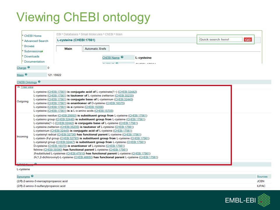 Viewing ChEBI ontology