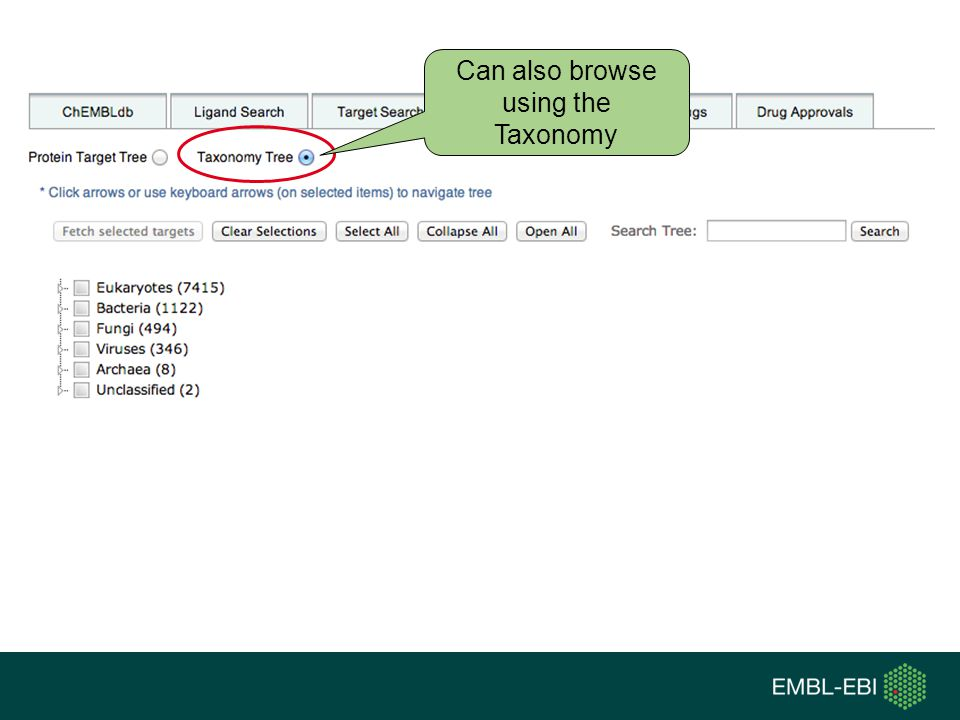 Can also browse using the Taxonomy