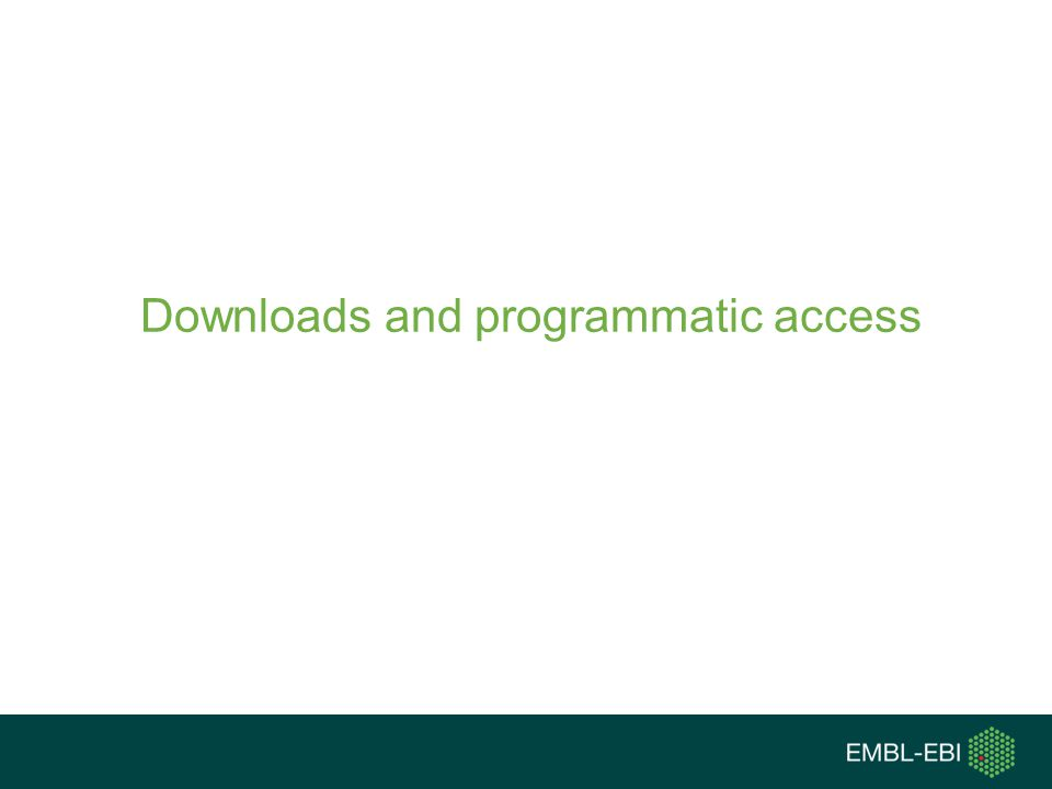 Downloads and programmatic access