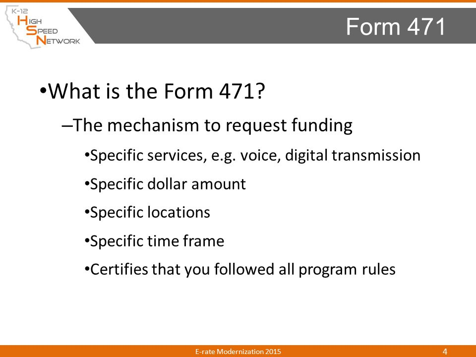 Next – Enter Item 21 services Can be a single line item or multiple – Select who is receiving the services: Managed Entities One or more entities Enter as many FRNs as needed to cover your eligible services Review and submit the form Certify to complete the process Form 471 E-rate Modernization 2015 25