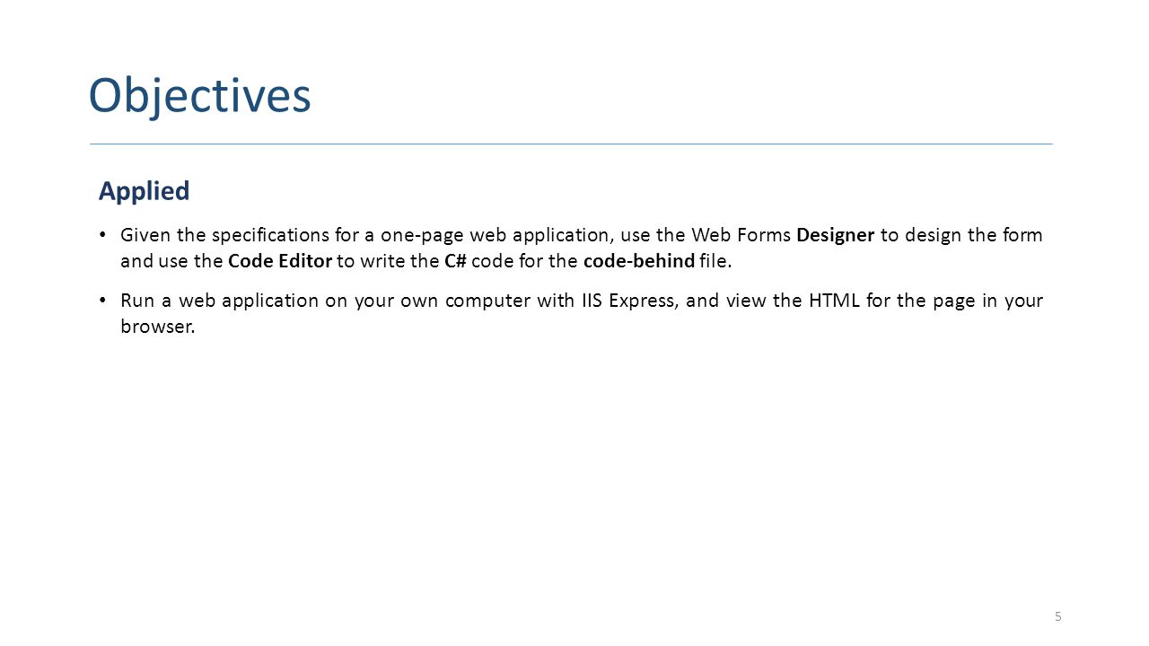 How to Add a Web Form to a Web Site CONTINUED 16