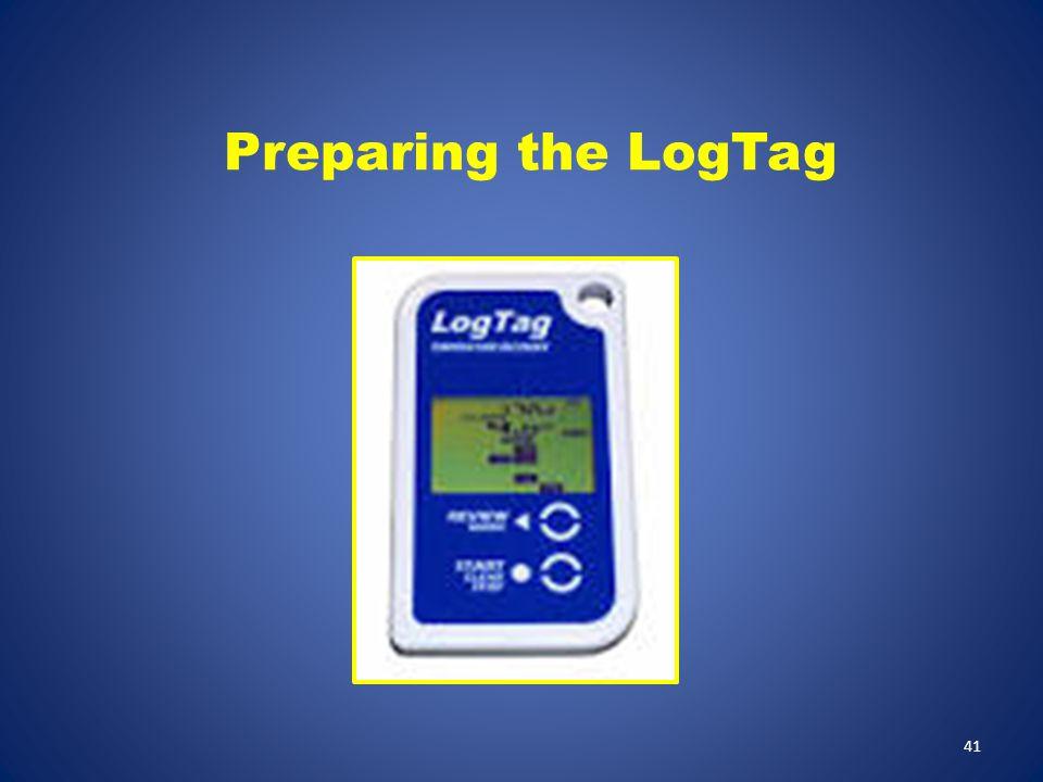 Preparing the LogTag 41