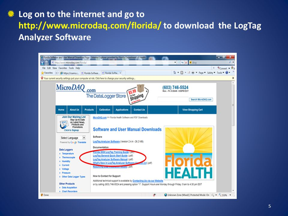 Then click RUN to load Analyzer Software 6