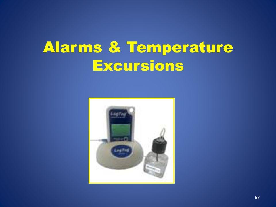 Alarms & Temperature Excursions 57