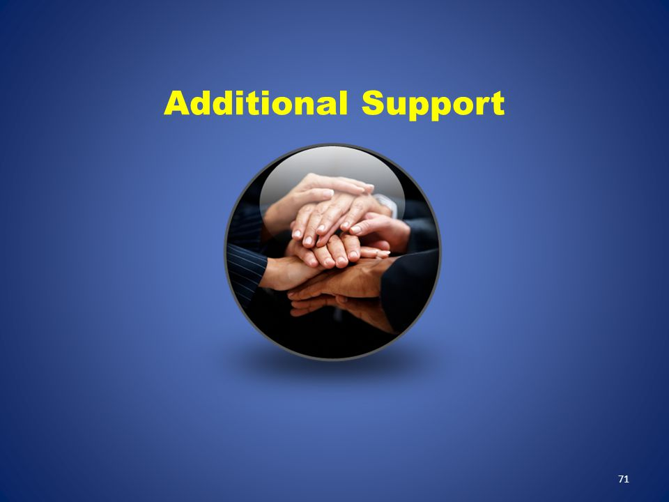 71 Additional Support