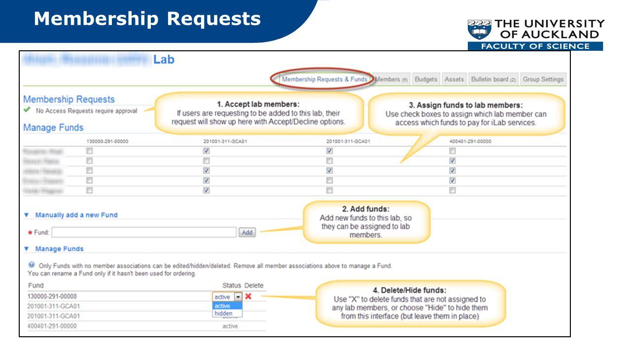 Membership Requests