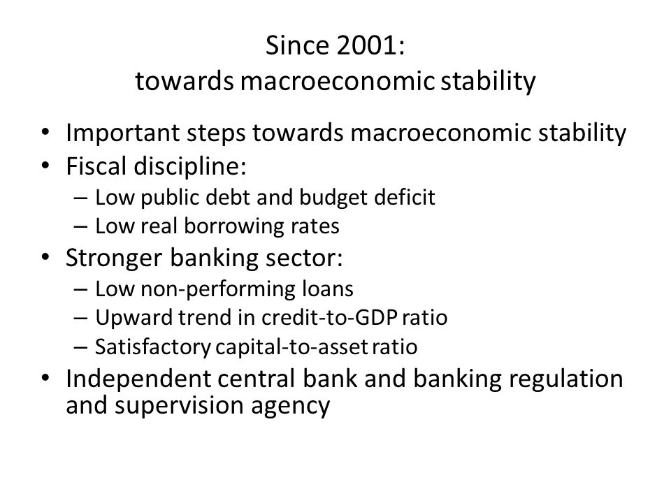 Fiscal discipline Budget deficit: 2000-2013 (%GDP)