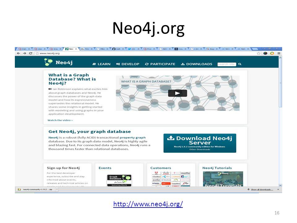 Neo4j.org 16 http://www.neo4j.org/