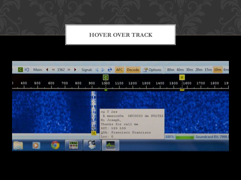HOVER OVER TRACK