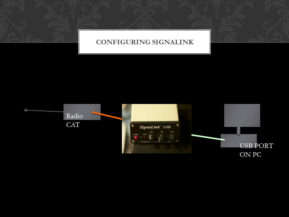 CONFIGURING SIGNALINK Radio CAT USB PORT ON PC