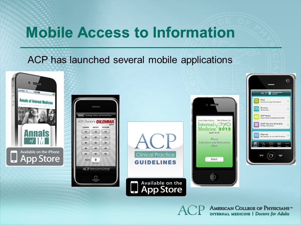 Mobile Access to Information ACP has launched several mobile applications