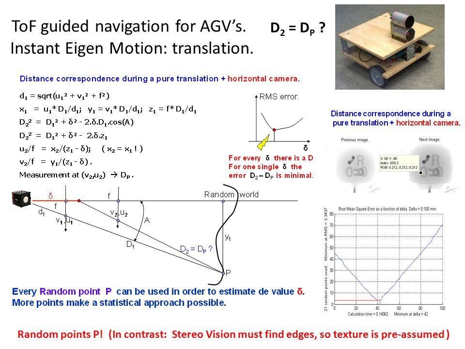 Instant Eigen Motion: translation.ToF guided navigation for AGV's.