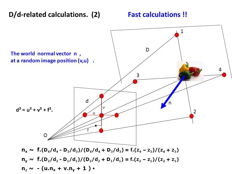 n x ~ f.(D 4 /d 4 - D 3 /d 3 )/(D 4 /d 4 + D 3 /d 3 ) = f.(z 4 – z 3 )/(z 4 + z 3 ) n y ~ f.
