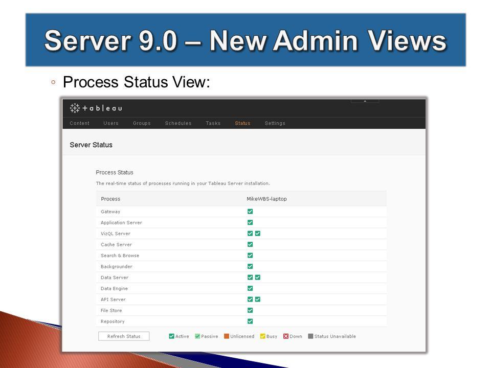 ◦ Process Status View: