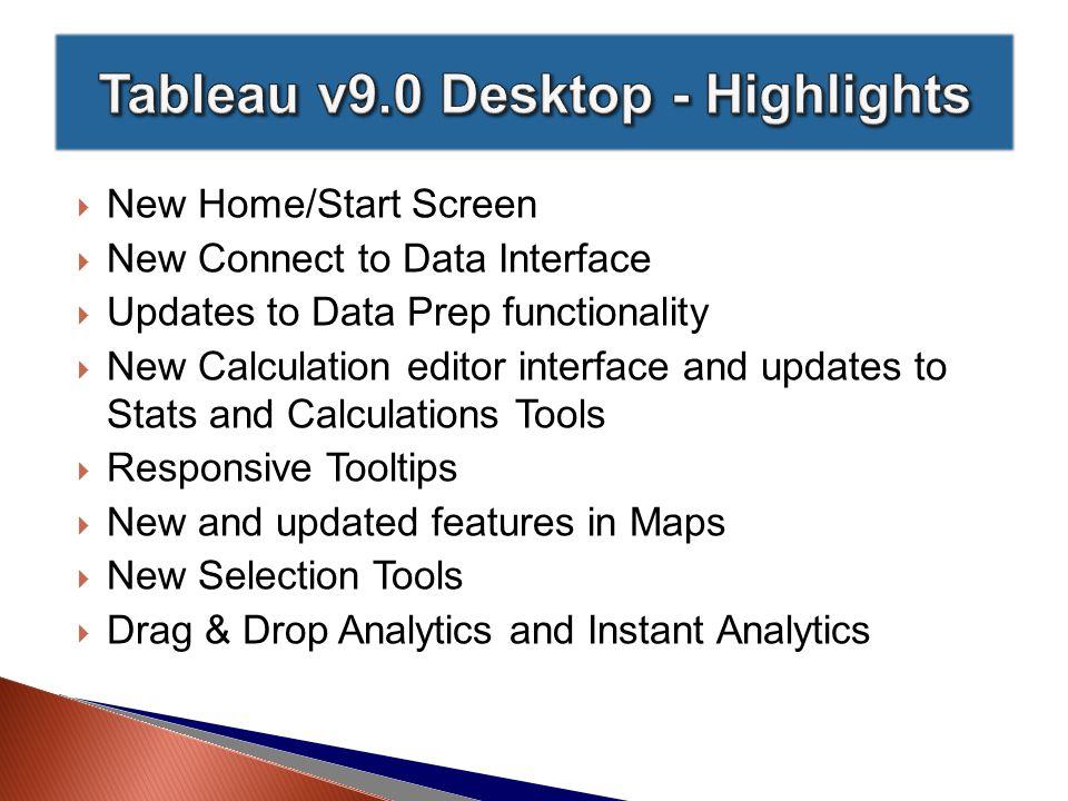  Ad-Hoc Calculations ◦ http://onlinehelp.tableau.com/v9.0/pro/online/windows/en- us/help.htm#qs_adhoc_calcs.html http://onlinehelp.tableau.com/v9.0/pro/online/windows/en- us/help.htm#qs_adhoc_calcs.html  The Analytics Pane ◦ http://onlinehelp.tableau.com/v9.0/pro/online/windows/en- us/help.htm#qs_analytics_pane.html http://onlinehelp.tableau.com/v9.0/pro/online/windows/en- us/help.htm#qs_analytics_pane.html  The Calculation Editor ◦ http://onlinehelp.tableau.com/v9.0/pro/online/windows/en- us/help.htm#qs_calculation_editor.html http://onlinehelp.tableau.com/v9.0/pro/online/windows/en- us/help.htm#qs_calculation_editor.html