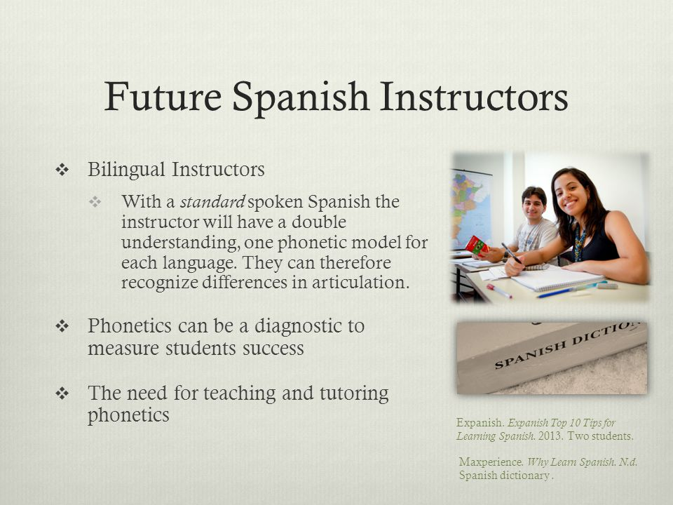 Language Interference  Second language learners use foreknown strategies and information  English Language  Orthography of English and Spanish  Si