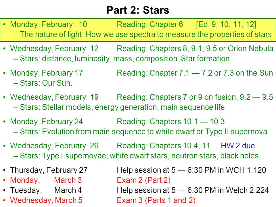Monday, February 10Reading: Chapter 6 [Ed.