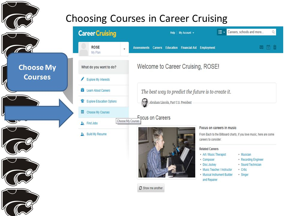 Choosing Courses in Career Cruising Choose My Courses