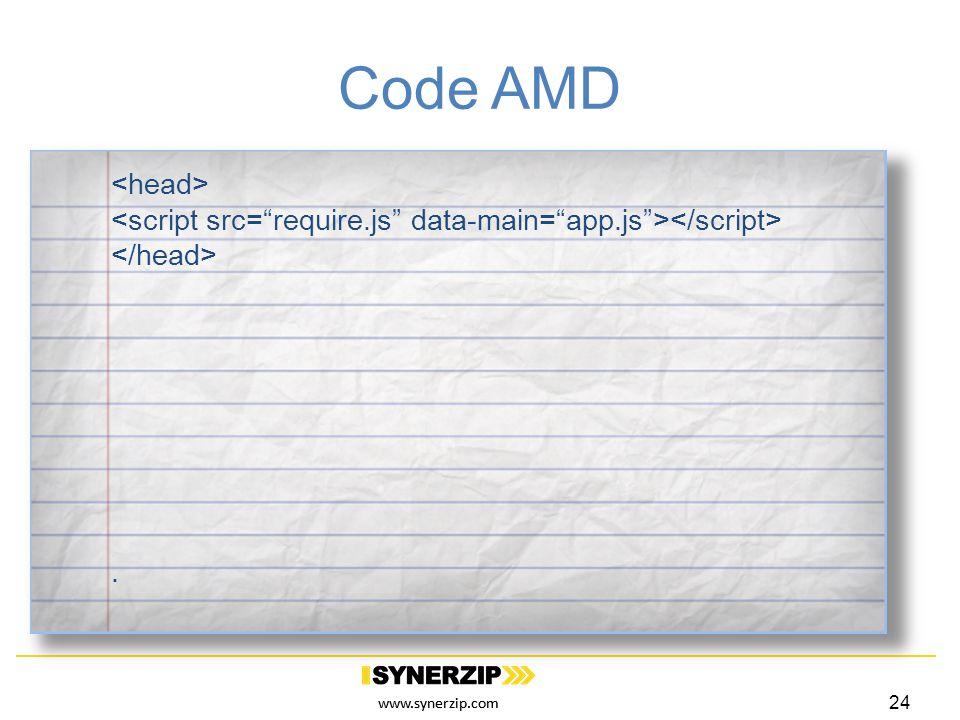 www.synerzip.com Code AMD. 24