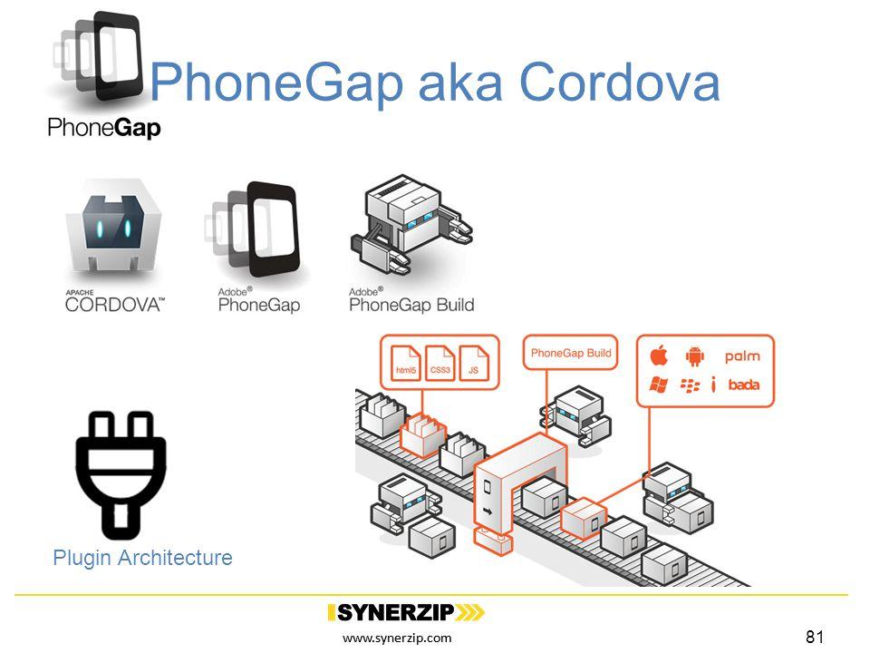 www.synerzip.com PhoneGap aka Cordova Plugin Architecture 81