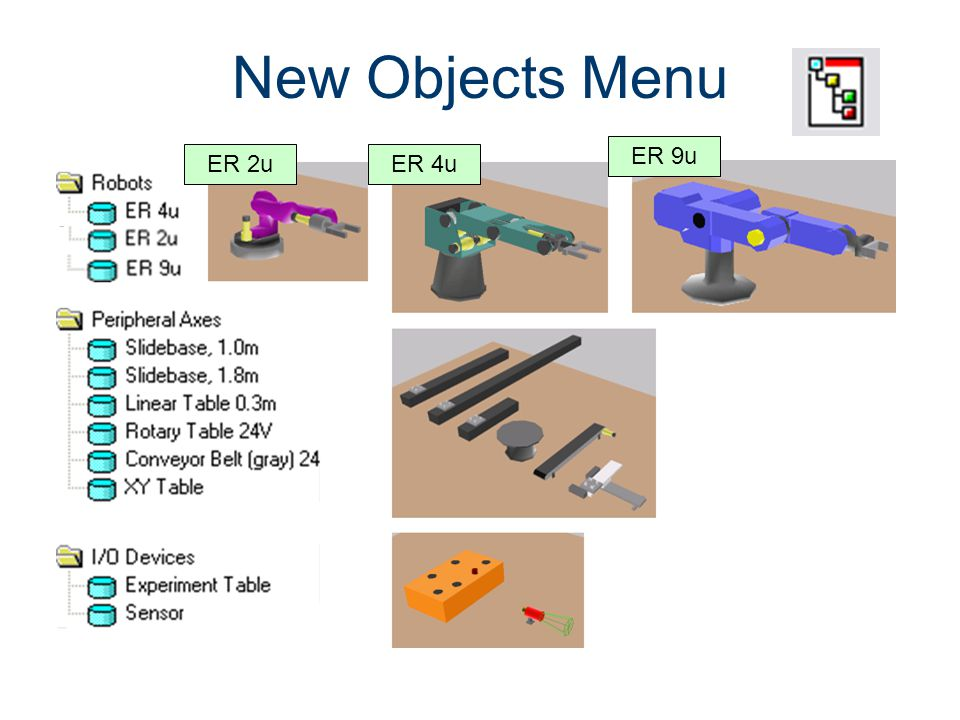 New Object Menu