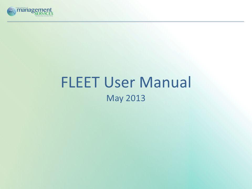 I.FLEET Account Set Up A.Creating an AccountCreating an Account B.