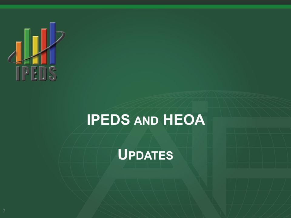 IPEDS AND HEOA U PDATES 2
